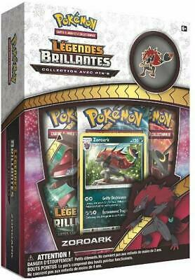 COFFRET PACK POKÉMON PIN'S ZOROARK SL3.5 LÉGENDES BRILLANTES - carte booster