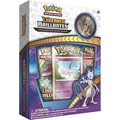COFFRET PACK POKÉMON PIN'S MEWTWO SL3.5 LÉGENDES BRILLANTES - carte booster