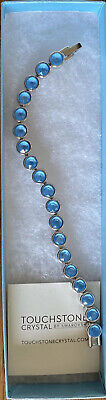 Swarovski Touchstone Crystal SUMMER BLUE ICE BRACELET New In Box
