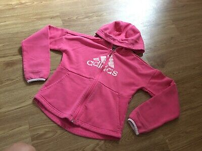girls pink 💕Adidas tracksuit top age 8-9