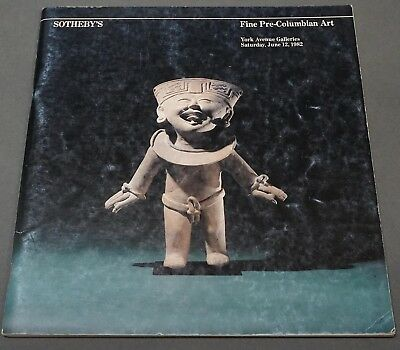 Sothebys Fine Pre-Columbian Art NY June 1982 w/ prices realized