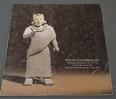 Sothebys Fine Pre-Columbian Art NY November 1979 w/ prices realized