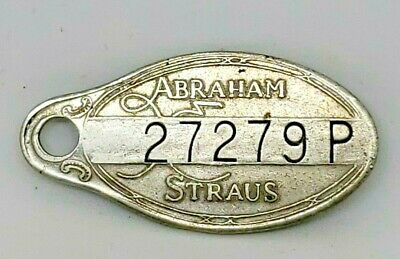 VTG ABRAHAM & STRAUS Charge Coin Plate Token Brooklyn NY - Finder Please Return