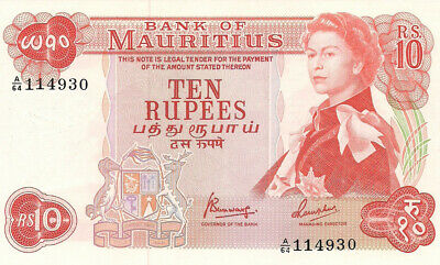 Mauritius 10 Rupees 1967 P31c Gem Uncirculated Banknote