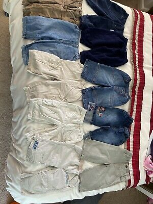 Large Bundle Of Age 6-9 Month Boys Clothes Trousers Jeans