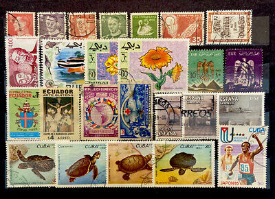 WORLDWIDE STAMPS 25 Different Mix Condition (888)