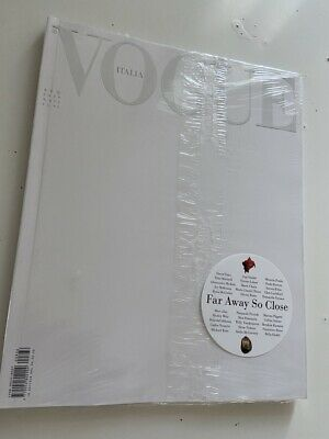 italian vogue italy april 2020 white issue edition SEALED new rare