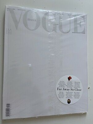 RARE italian vogue italy april 2020 white issue edition SEALED new