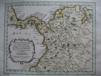 1756 - BELLIN - Map COLOMBIA  PANAMA