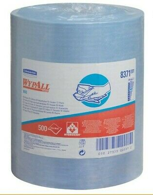 Kimberly Clark Wypall Roll of 500 Blue Cloths