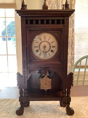 Antique Early 20th Century New Haven Tabletop Clock WORKS