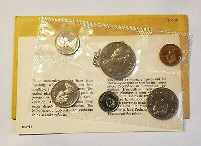 1969 Canada Prooflike Uncirculated Mint Set incl Envelope and COA Royal Mint