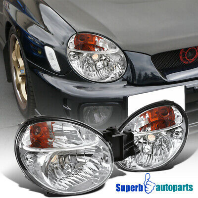 For 2002-2003 Subaru Impreza WRX Headlights Head Lamps Pair Left+Right