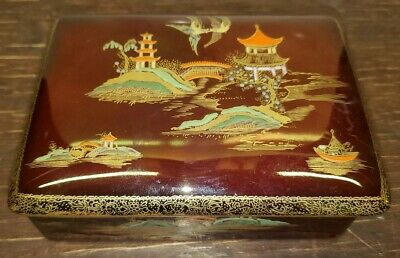 Carlton ware rouge royale Trinket Box / jewelry Box