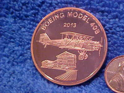 2013 BOEING EMPLOYEEs COIN CLUB Copper Model 40B & Red Barn Medal BMp