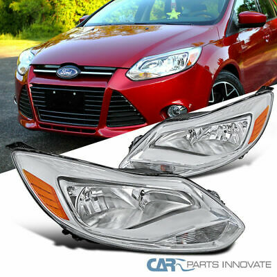 For 12-14 Ford Focus Replacement Clear Driving Headlights Corner Signal Lamps