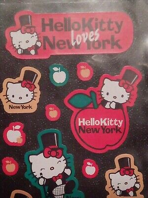 Sanrio Hello Kitty Loves New York Stickers Sheet Apples Top Hat Broadway