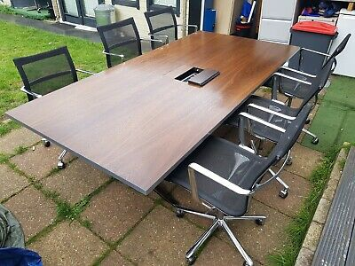 Solid Boardroom/Meeting/office/Conference table seats 8 (chairs not included)