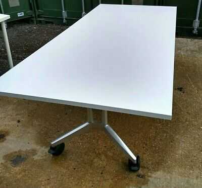 White folding boardroom/conference/office/meeting room table - Wilkahn Confair