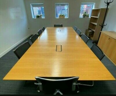 ICF Boardroom/Conference/Meeting/Office Table cable management, seats up to 12