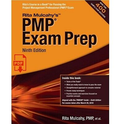 PMP Exam Prep Ninth Edition : Project Management Pro by Rita Mulcahy's 📚P.D.F📚