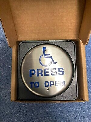Larco Round Disabled Push Pad For Automatic Doors c/w Transmitter & Receiver