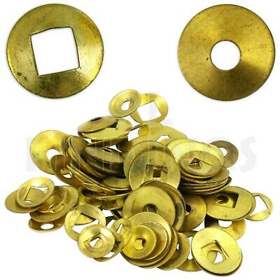 Brass Domed Clock Washers, Mixed hole 100 washer mix Clockmaker Movement Repair