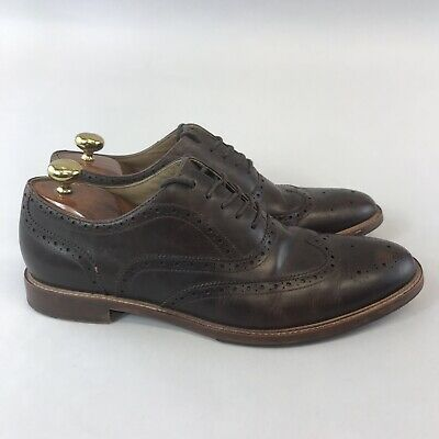 Aldo Size UK11 Brown Leather Smart Casual Brogues Lace Up Dress Shoes
