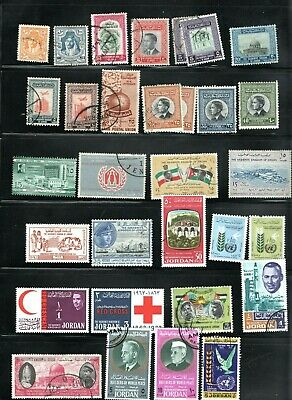 1930-67 Jordan collection on stock page mint and used