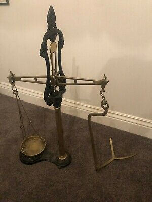 Antique Scales cast iron and brass