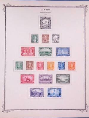 Canada 1935 King George V 217-227+ other Stamps Mint Hinged on Album Pages FD1-1