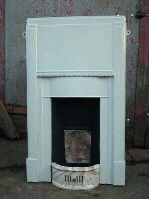 Original Art Deco Cast Iron Combination  Fire Surround