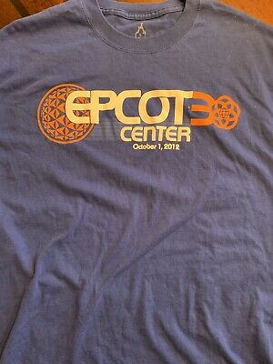 Disney Epcot EPCOT Attraction 30th Anniversary LARGE LOGO Size Shirt