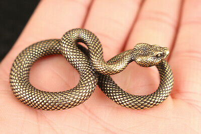 japanese  bronze hand casting snake statue collect car key ring pendant gift