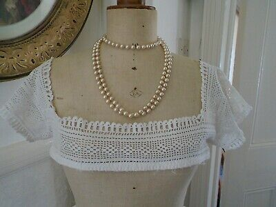 Vintage/antique French  hand crochet  sew on dress/blouse trimmimg 'collar'