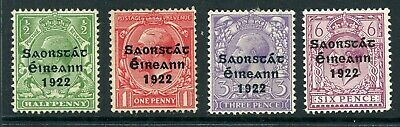 Ireland 1922 (Dec) - 1923 small selection to 6d MM