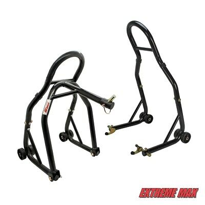 Extreme Max 5600.3223 Sport Bike Front & Rear Spool-Style Lift Stand with Triple