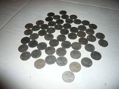 Collection of 1975 British Coins Ten Pence pound sterling 1970s currency