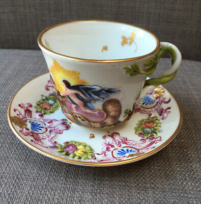 Antique Herend Capodimonte Style Cup & Saucer