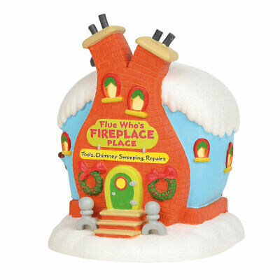 Department 56 Dr Seuss Flue Who's Fireplace Place Lighted Building