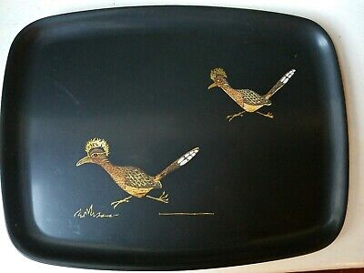 Vintage Couroc of Monterey CA Inlaid Serving Tray ROADRUNNERS MCM