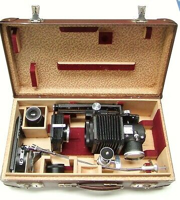 Leitz Leica Viso 1 + Bellows Outfit In Fitted Case. Screw Mount