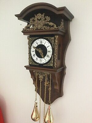 Large Dutch Wall Clock. 8 Day. Chiming.