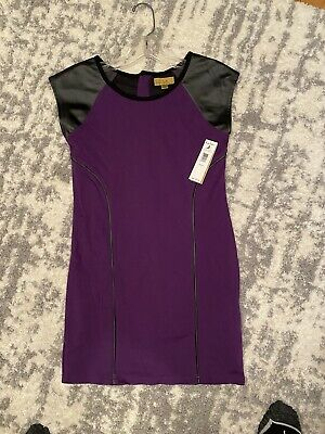 Gorgeous Girls Nicole Miller Size 16 (XL) NWT Eggplant With Faux Leather Piping
