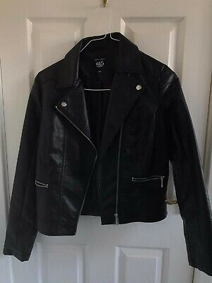 Jacket leather look 14-15 years old Girl colour Black from 915 New Look