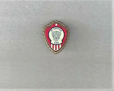 """Rare Type Ww2 Mothers """"Son In Service"""" Sweetheart Pin Unusual Design"""