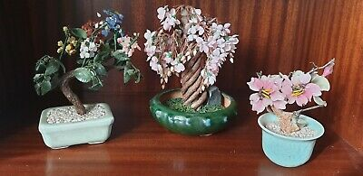 3 Vintage Bonsai/Cherry blossom Ornamental Trees