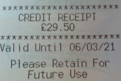 Marks And Spencer Credit Voucher £29.50