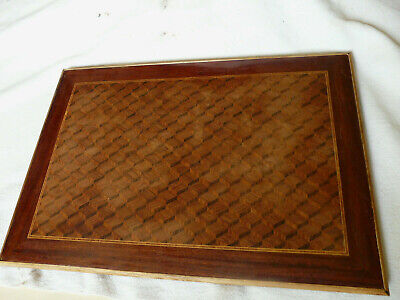Antique French Victorian marquetry Desk Top Blotter 1800 s