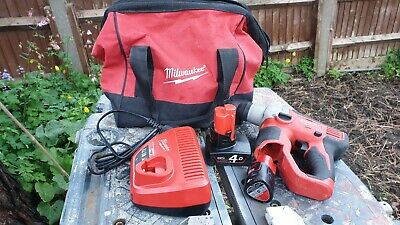 milwaukee m12 SDS Rotary Hammer Drill, 2 Batteries, Charger and Bag